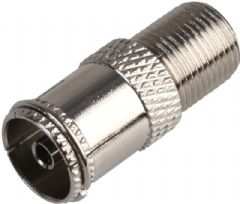 PRO SIGNAL RW7-011  Tv Coax Socket To F Female Brass